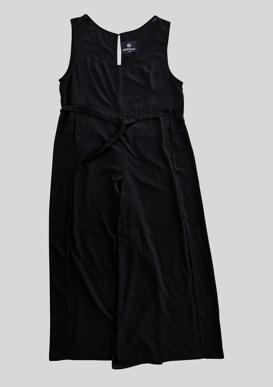 JUMPSUIT WIDE - black plain - BERENIK