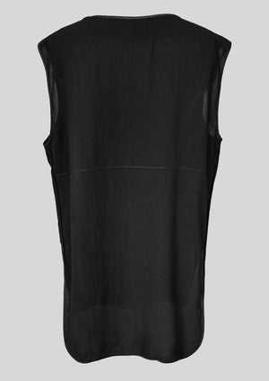 SHIRT SLEEVELESS black plain