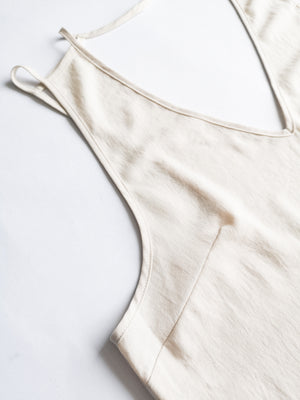 SAMPLE - TOP SPAGHETTI STRAPS - creme