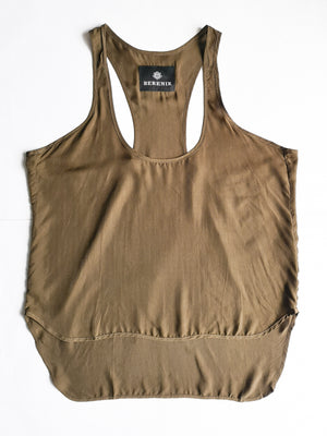 SAMPLE - TANK TOP - cupro khaki