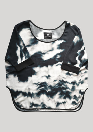 TOP OVERSIZED PRINT (BLACK/WHITE)