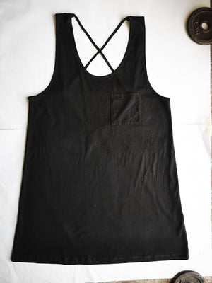 SAMPLE - DRESS SPAGHETTI STRAPS - cotton jersey black