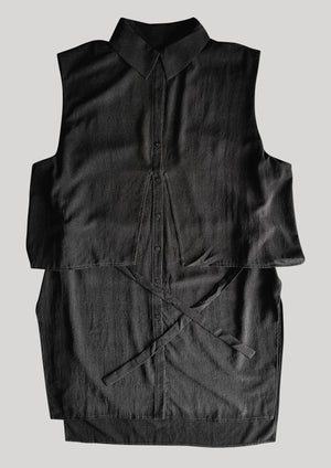 BLOUSE SLEEVELESS BLACK - BERENIK