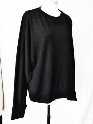 SAMPLE - SWEATER OVERSIZED - cotton jersey black