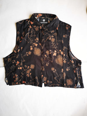 SAMPLE - BLOUSE SLEEVELESS - rayon printed
