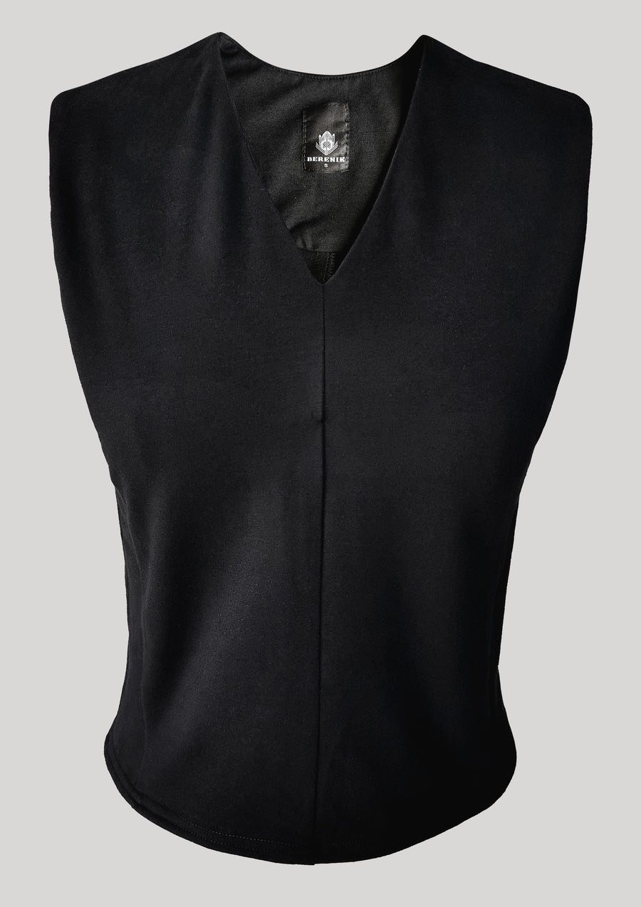 SHIRT SLEEVELESS - COTTON JERSEY black