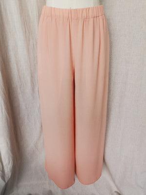 SAMPLE - PANTS WIDE WITH ELASTIC WAIST AND ZIP - peach