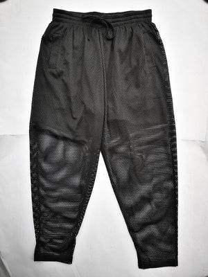 SAMPLE - PANTS LOOSE WITH ELASTIC WAIST AND BELT AND POCKETS - mesh black
