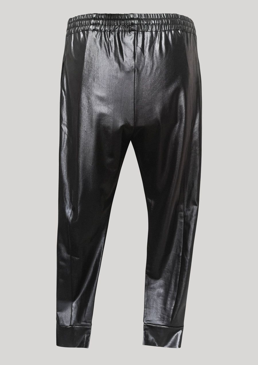 ELEGANT SWEATPANTS - black shiny - BERENIK