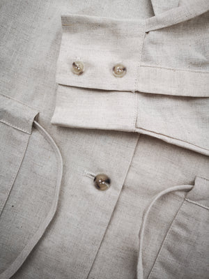 SUMMER DRESS/JACKET - LINEN natural white