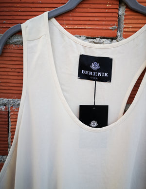 SAMPLE - TANK TOP OVERSIZED - creme
