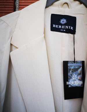 SAMPLE - COAT ROLLUP SLEEVES - creme