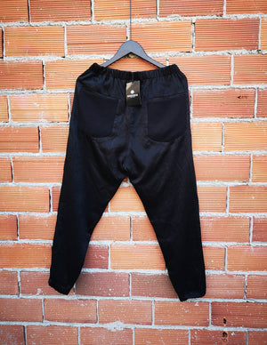 SAMPLE - PANTS POCKETS - RAYON black shiny