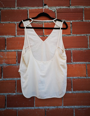 SAMPLE - SHIRT SPAGHETTI STRAPS - creme