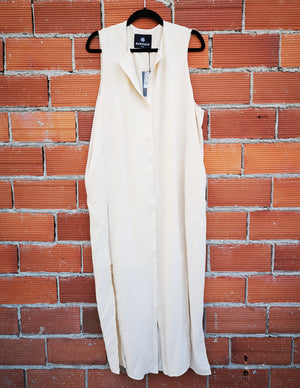 SAMPLE - DRESS/VEST LONG - creme