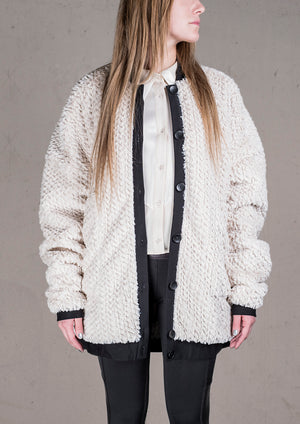 PILOT JACKET - FAUX FUR ivory