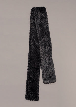 SCARF FAUX RHOMB FUR BLACK