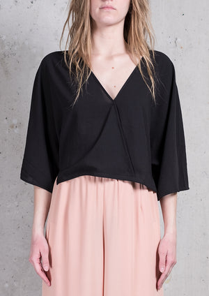 TOP DRAPING - black