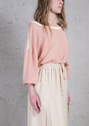 T-SHIRT FEMALE - peach/creme