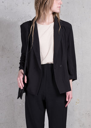 BLAZER/BLOUSE - black plain