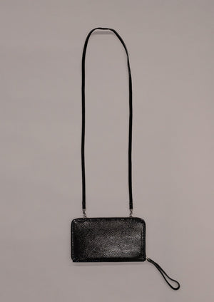 PURSE LEATHER SNAKE PRINT BLACK