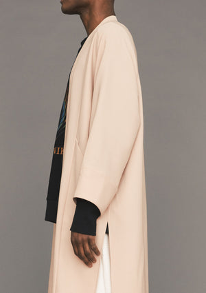 CARDIGAN LONG - TWILL BIAS nude - BERENIK