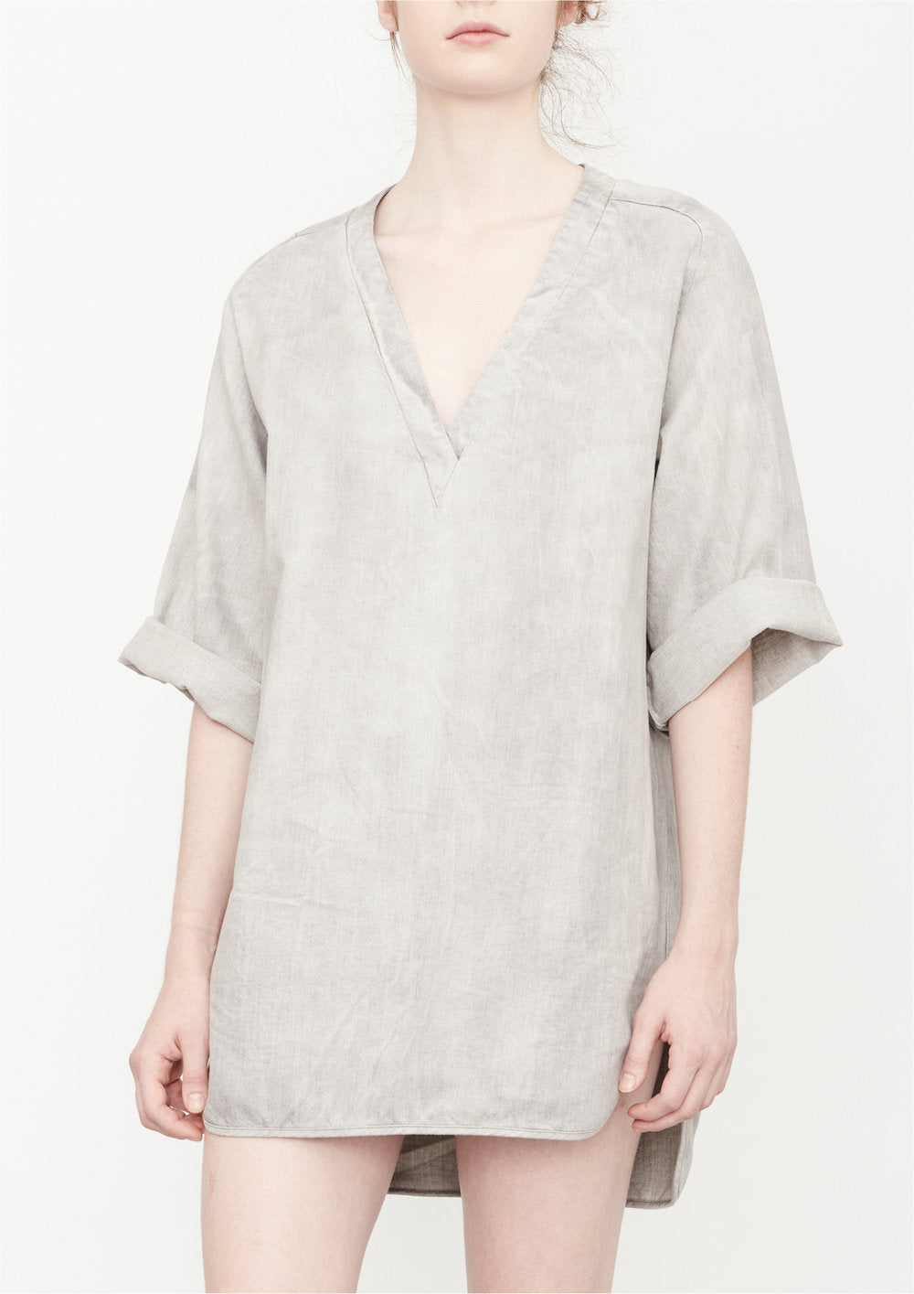 SHIRT/DRESS - DENIM light grey washed - BERENIK
