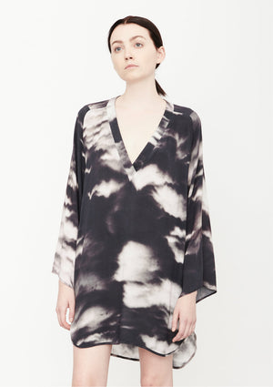 SHIRT/DRESS - printed black/white - BERENIK
