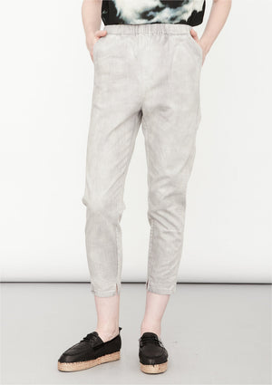 PANTS STRETCH HIGH WAIST - DENIM light grey washed - BERENIK