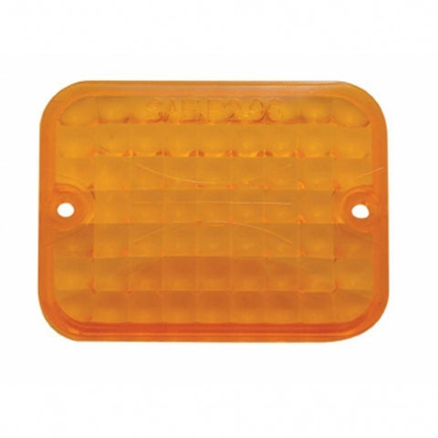 Small Rectangular Lens - Amber