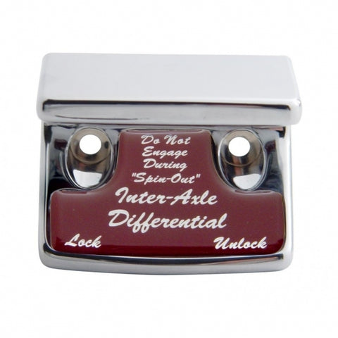 """Axle Differential"" Switch Guard - Red Sticker"