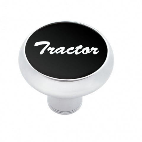 """Tractor"" Deluxe  Air Valve Knob - Black Aluminum Sticker"