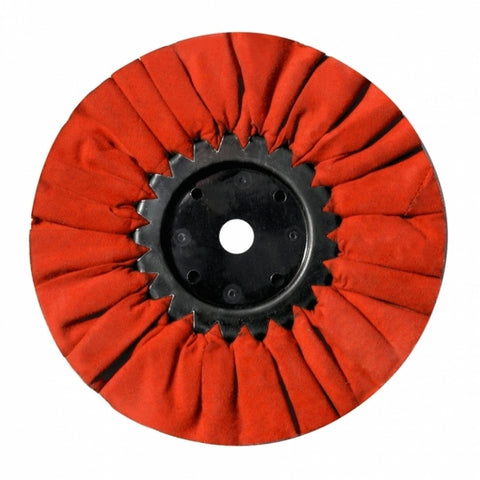 "8"" Red Treated Airway Buff - 5/8"" & 1/2"" Arbor"