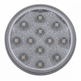 "12 LED Reflector 4"" Stop, Turn & Tail - Red LED/Clear Lens"