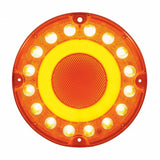 "32 LED 7"" Turn Signal ""GLO"" Light - Amber LED/Amber Lens"