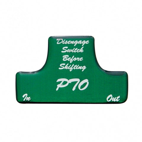 """PTO"" Switch Guard Sticker Only - Green"