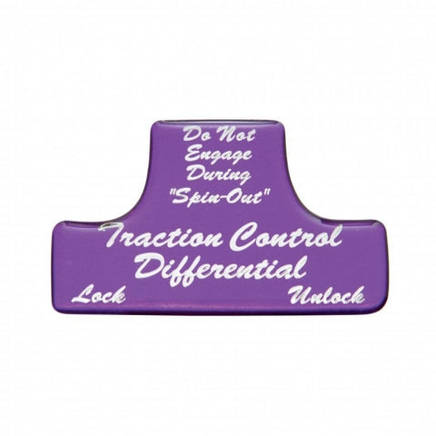 """Traction Control Differential"" Switch Guard Sticker Only - Purple"