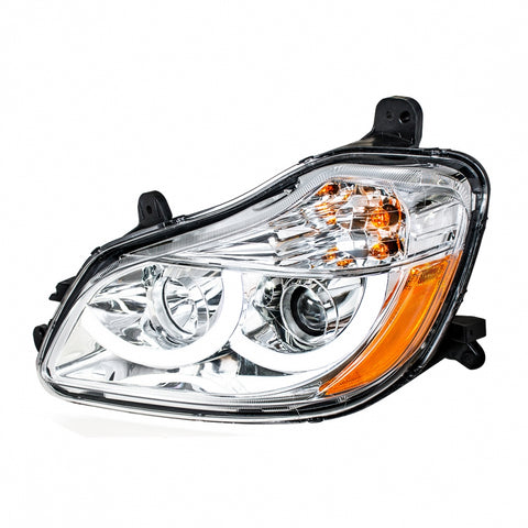 Chrome Projection Headlight With LED Position Light For 2013+ Kenworth T680