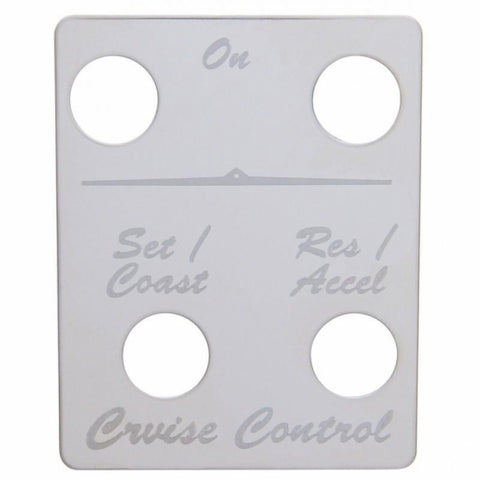 Peterbilt Stainless Switch Plate - Cruise Control (4 Switches)