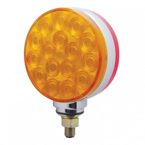 34 LED Reflector Double Face Turn Signal Light - Amber/Red Lens