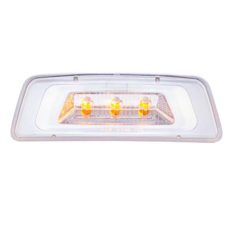3 LED Fender Turn Signal/Parking Light For Kenworth T680/T700/T880 - Amber LED/Clear Lens