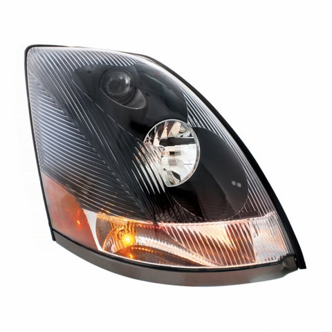 """Blackout"" Headlight Made for 2004+ Volvo VN - Passenger"