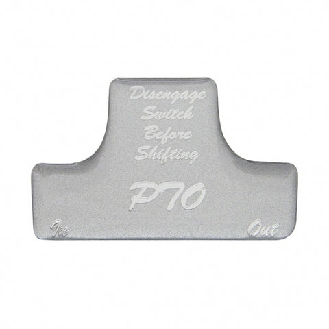 """PTO"" Switch Guard Sticker Only - Silver"
