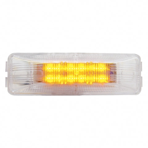 12 LED Rectangular Clearance/Marker Light - Amber LED/Clear Lens