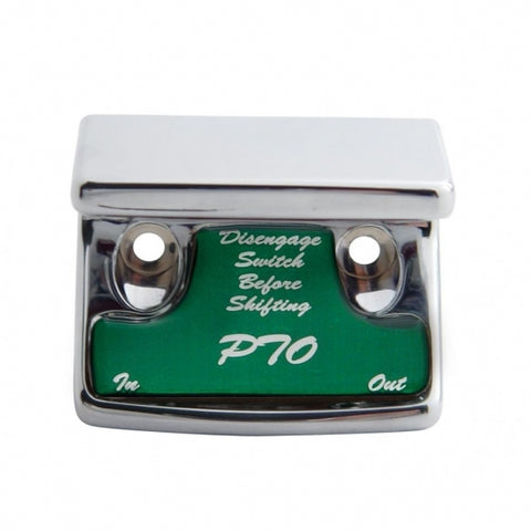 """PTO"" Switch Guard - Green Sticker"