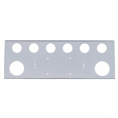 "Stainless Rear Center Panel - Four 4"" & Six 2 1/2"" Light Cutouts"
