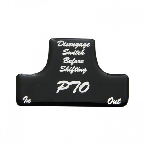 """PTO"" Switch Guard Sticker Only - Black"