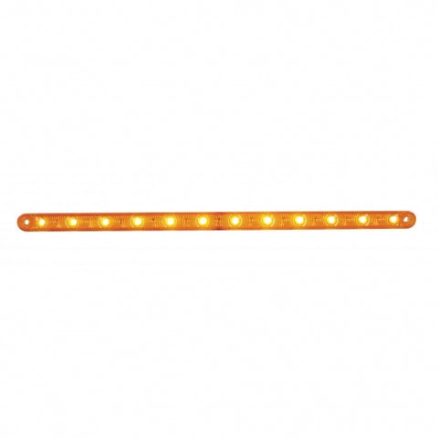 "12 LED 12"" Ultra Slim Turn Signal Light Bar - Amber LED/Amber Lens"