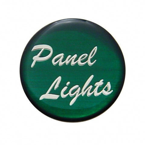"""Panel Lights"" Glossy Dash Knob Sticker Only - Green"