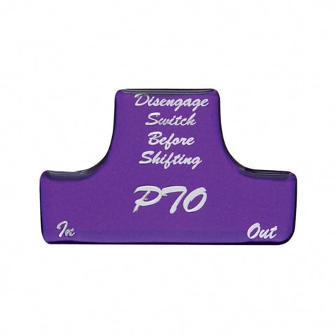 """PTO"" Switch Guard Sticker Only - Purple"